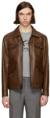 Coach 1941 Brown Burnished Leather Jacket