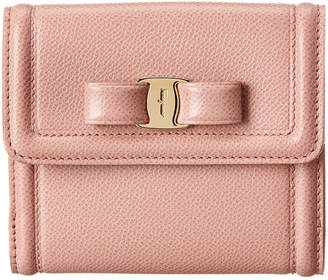 Salvatore Ferragamo Vara Bow Small Leather French Wallet