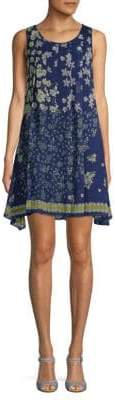Max Studio Pleated Floral Shift Dress