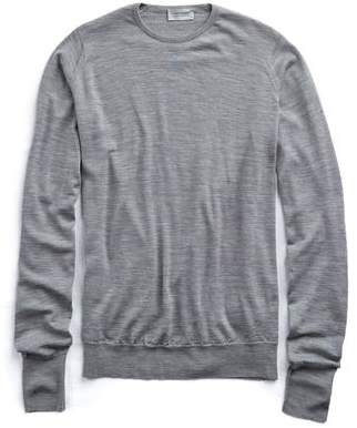 John Smedley Sweaters Easy Fit Crewneck Merino Sweater in Silver