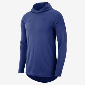 Nike New York Knicks Men's Hooded Long-Sleeve NBA T-Shirt