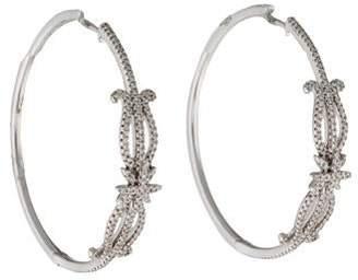 KC Designs 14K Diamond Hoop Earrings