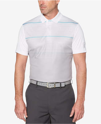 PGA Tour Men Airflux Performance Geo-Stripe Polo