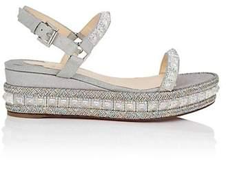 Christian Louboutin Women's Pyradiams Glitter Platform-Wedge Sandals - Version Ab