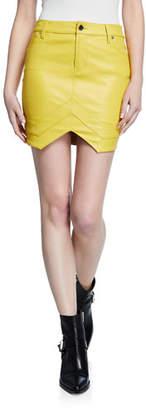 RtA Tempest Leather Mini Skirt
