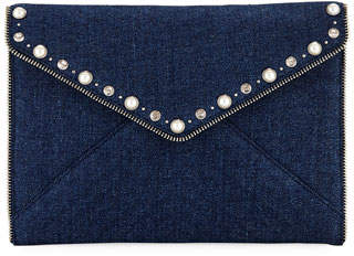 Rebecca Minkoff Leo Pearly Envelope Clutch Bag