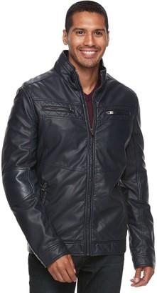 X-Ray Xray Men's XRAY Faux-Leather Motor Jacket