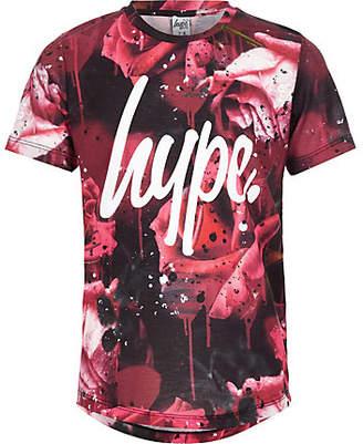 Hype Boys Red rose splat T-shirt