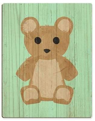 Astra Art Teddy Bear Spring 24-Inch x 20-Inch Wood Wall Art