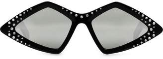 Gucci Diamond-frame sunglasses with crystals