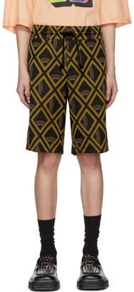 Maison Margiela Tan and Black Vintage Jacquard Shorts