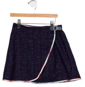 Paul Smith Girls' Metallic-Accented Wrap Skirt