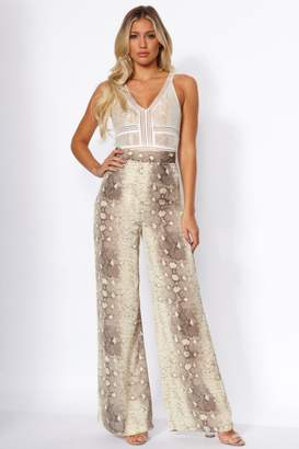 Girls On Film Tatiana Snake Palazzo Trousers