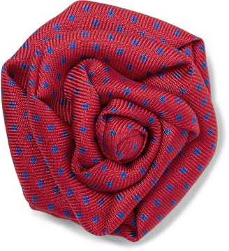 Charvet Polka-Dot Silk-Faille Lapel Pin