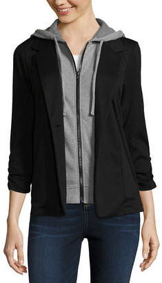 Almost Famous 3/4 Sleeve Layered Top-Juniors