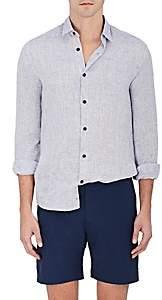 Orlebar Brown Men's Morton Linen Shirt - Navy