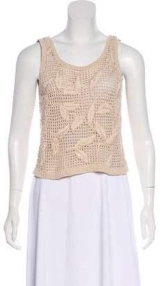 Ellen Tracy Crochet Crop Sweater