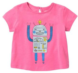 Joe Fresh Short Sleeve Graphic Print Top (Baby Girls)