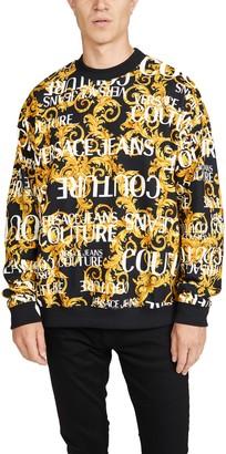 Versace Logo Baroque Crew Neck Sweatshirt