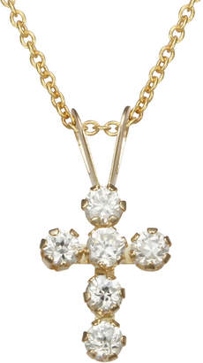 JCPenney FINE JEWELRY 10K Gold Cubic Zirconia Cross Pendant Necklace