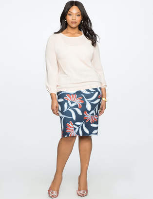 Reversible Neoprene Pencil Skirt