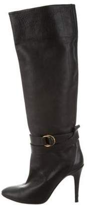 Pierre Hardy Leather Knee-High Boots Black Leather Knee-High Boots