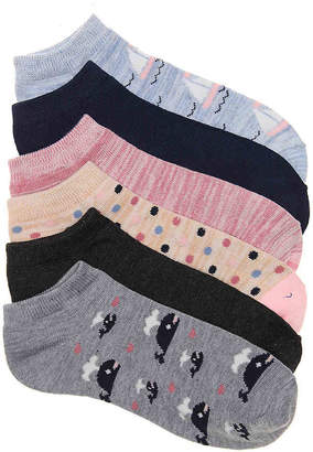 Kelly & Katie Whales No Show Socks - 6 Pack - Women's