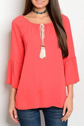 N. Lime Chili Tomato Red Blouse