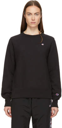 Champion Reverse Weave Black Small Logo Sweatshirt