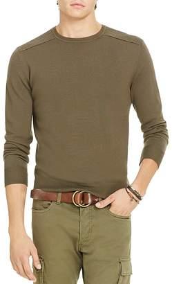 Polo Ralph Lauren Merino Wool Moto Sweater $165 thestylecure.com
