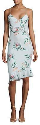 Missguided Floral-Print Midi Bodycon Dress
