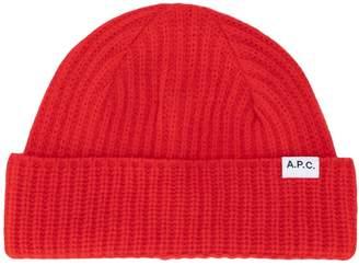 A.P.C. ribbed knit beanie