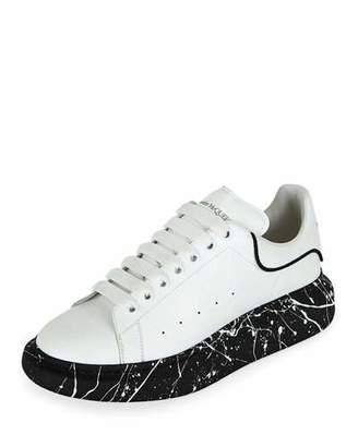 Alexander McQueen Men's Larry Marbled-Sole Trainer Sneakers