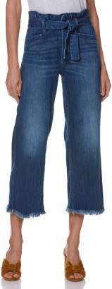 Paige Sutton Paperbag High Waist Crop Wide Leg Jeans
