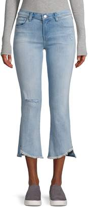 J Brand Selena Mid Rise Crop Bootcut Jeans