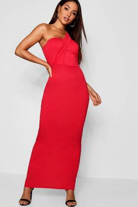 boohoo One Shoulder Maxi Dress