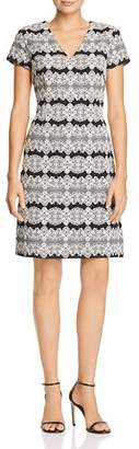 Adrianna Papell Lace Jacquard Dress