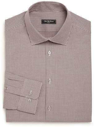 Saks Fifth Avenue Modern Regular-Fit Mini Houndstooth Check Patterned Dress Shirt