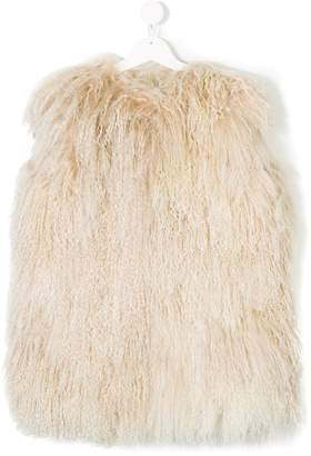 Numerootto Kids shearling gilet
