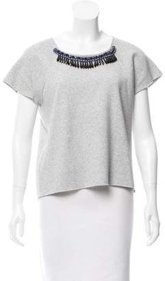 Milly Embellished Knit Top