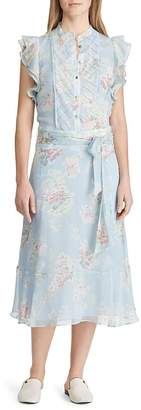 Ralph Lauren Floral-Print Ruffle Midi Dress