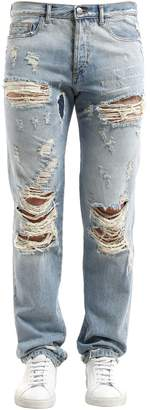 Faith Connexion Destroyed Straight Leg Denim Jeans