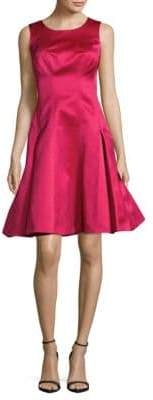 Zac Posen Solid Fit-&-Flare Dress
