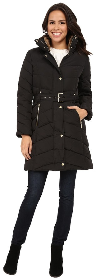 Cole Haan  Cole Haan Single Breasted Belted Down Coat