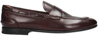 Premiata Bordeaux Leather Loafers