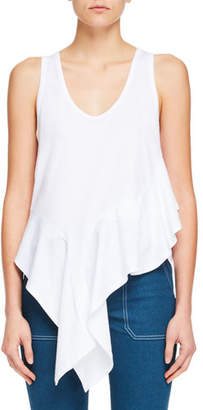 Chloé Sleeveless Asymmetric-Hem Jersey Top