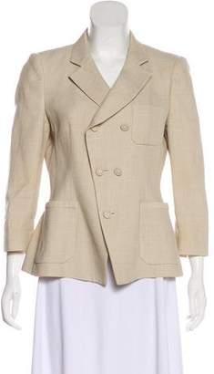 Balenciaga Wool-Blend Structured Blazer