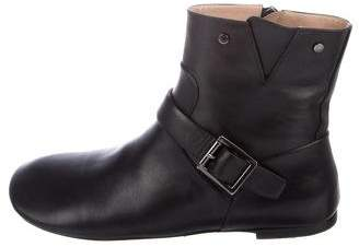 Louis Vuitton Leather Flat Ankle Boots