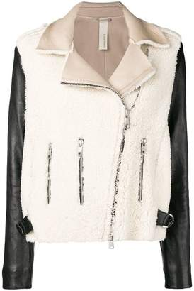 Giorgio Brato two-tone shearling jacket