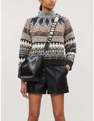 Stella McCartney High-rise faux-leather shorts